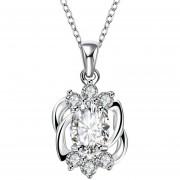 Collares De Mujer Plata Con Transparente Diamond Ornament Dust.