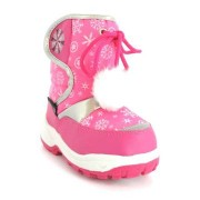 Cizme de zapada fetite apres ski fulgi roz