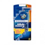 Gillette Sensor3 8 ks pohotové žiletky pre mužov