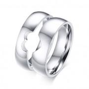 Snubní prsteny chirurgická ocel půlsrdce