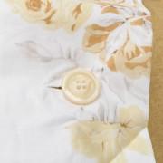 Pianeta Tessile Completo sacco copripiumino matrimoniale, bianco/sabbia