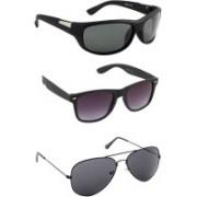 Irayz Wayfarer Sunglasses(Violet, Black)