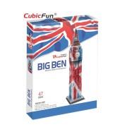 CubicFun Big Ben (editie speciala) Puzzle 3D 47 de piese