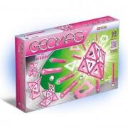 Set de constructie magnetic Geomag, Pink, 68 piese