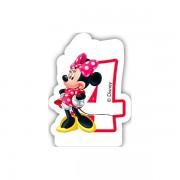 Lumanare party cifra 4 Minnie