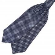Tailor Toki Marineblauwe Polyester Stropdassjaal met Sterrenpatroon