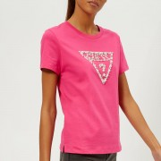 Guess Women's Short Sleeve Crew Neck Stone and Bead T-Shirt - Raquel Rose - S - Pink