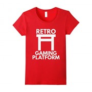 Womens Retro Gaming Platform Board Games Game Lover Parody T-Shirt XL Red