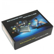 Convertisseur Vidéo Composite RCA & S-Vidéo vers HDMI, Support Full HD 1080P