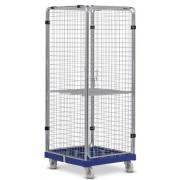 Gördíthető fém eszközszállító sportszertároló szekrény 180x81x72 cm , polc opcionális