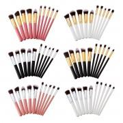 Newchic 10Pcs Maquillaje cepillos Set polvo de la cara se ruborizan cepillo cosmético de la fundación del contorno