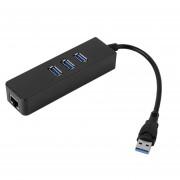 ER 3 Puertos USB 3.0 HUB Con RJ45 Adaptador Gigabit Ethernet 1000Mbps Para PC Portátil