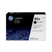 HP Pack de ahorro de 2 cartuchos de tóner Original HP 80X Negro de alta capacidad para HP LaserJet Pro 400 M401a , M401d , M401dn , M401dne , M401dw e...