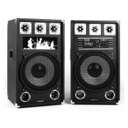 Oneconcept BSX-12A Altavoces PA USB microSD AUX MIC 80W RMS negro (GAV5-BSX-12A)