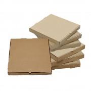 Set 500 Cutii Pizza Natur, 32x3.5x32 cm - Ambalaje din Carton pentru Alimente