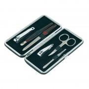 Merkloos 6-delige manicure set in luxe rechthoekige zwarte houder