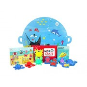 Magic Crate Activity Kit for 2-3 Year olds : My Friends from The Sea (Contains 3 Activities and Storybook)
