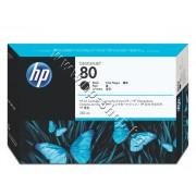 Мастило HP 80, Black (350 ml), p/n C4871A - Оригинален HP консуматив - касета с мастило