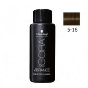 Tinte Igora Vibrance Semipermanente Earthy Clay 6-16 Rubio Oscuro Ceniza Chocolate 60ml