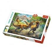 Puzzle Trefl, 160 piese - Fighting Tyrannosaurs (GXP-645423)