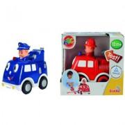 Simba Dickie ABC press & go, brandbil eller polisbil, baby (Röd)