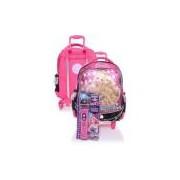 Mochila De Rodinhas Infantil Sestini M Rock N Royals Rosa Barbie