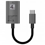 USB Type-C to HDMI Adapter TH002 - 4K - 15cm - Grey