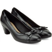 Clarks Denny Dream Black Combi Lea Slip on For Women(Black)
