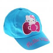 Hello Kitty Ribbon kék lány sapka