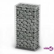 vidaXL Gabionska košara s poklopcima od pocinčane žice 100 x 50 x 30 cm