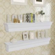vidaXL Wall Shelves Aaliyah 2 pcs White