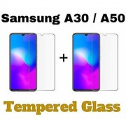 Mascot Max tempered glass 0.33mm 2.5d glass for Samsung Galaxy A30/A20/A50 pack of 2 glass