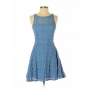 BB Dakota Casual Dress - Mini: Blue Solid Dresses - Used - Size 4