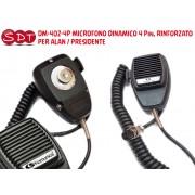 DM-402-4P MICROFONO DINAMICO 4 Pin, RINFORZATO PER ALAN / PRESIDENTE