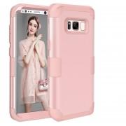 Para Samsung Galaxy S8 Dropproof 3 En 1 Funda De Silicona Para El Telefono Movil (Dorado Rosa)