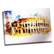 Tablou Roma - Zi insorita la Colosseum