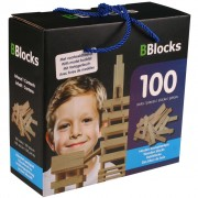BBlocks Building Planks 100 pcs Brown Wood BBLO890100