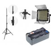 Kit lumina continua Lampa Yongnuo YN320+ Acumulator NP F+ incarcator+ stativ