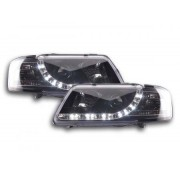 FK-Automotive fari Daylight a LED con DRL look Audi A3 8L anno di costr. 96-00 neri
