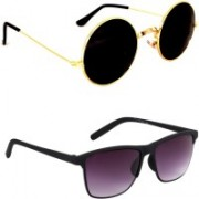 Rich Club Round, Wayfarer Sunglasses(Golden)
