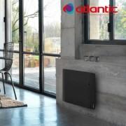 ATLANTIC Radiateur électrique Atlantic DIVALI - Horizontal 1500W - Pilotage Intelligent Connecté Lumineux GRIS - 507626