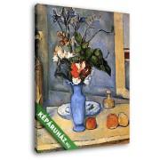 Paul Cézanne: Csendélet kék vázával (20x25 cm, Vászonkép )