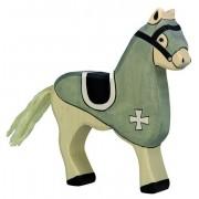Fa játék figurák - lovagi ló, fekete