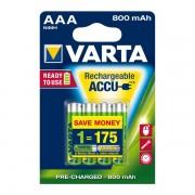 Varta Akku Longlife Accu Micro AAA Ready 2 Use NiMH 800mAh 56703 4erBlister