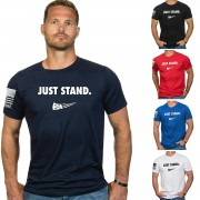 Nine Line Apparel Just Stand Short Sleeve T-Shirt Rouge S