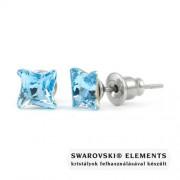 Jazzy világos kék Swarovski® kristályos fülbevaló - Twister Aquamarine
