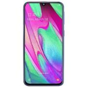 """Telefon Mobil Samsung Galaxy A40, Procesor Octa-Core 1.8GHz / 1.6GHz, Super AMOLED 5.9"""", 4GB RAM, 64GB Flash, 16+5MP, Wi-Fi, 4G, Dual Sim, Android (Alb) + Cartela SIM Orange PrePay, 6 euro credit, 6 GB internet 4G, 2,000 minute nationale si internationale"""