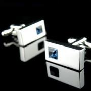Knoflickarna.CZ Manžetové knoflíčky - modrý krystal 0102