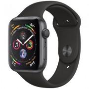 Apple SmartWatch APPLE Watch Series 4 Koperta 44 mm z aluminium w kolorze gwiezdnej szarości z paskiem sportowym w kolorze czarnym MU6D2WB/A