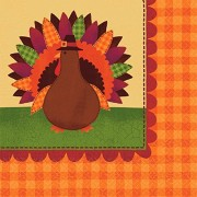 """Turkey Dinner Thanksgiving Luncheon Paper Napkins Party Tableware, 6"""" x 6"""" Pack of 36"""